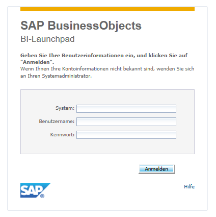 SAP BusinessObjects Web Intelligence - Abfrage