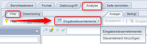 SAP BusinessObjects Web Intelligence - Eingabesteuerelement