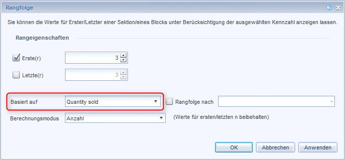 SAP BusinessObjects Web Intelligence - Einstellungen