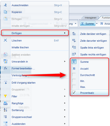SAP BusinessObjects Web Intelligence - Funktionen